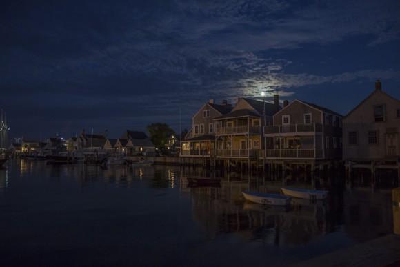 Moon over Nantucket, Mass., on July 8, 2017. (Samira Bouaou/The Epoch Times)