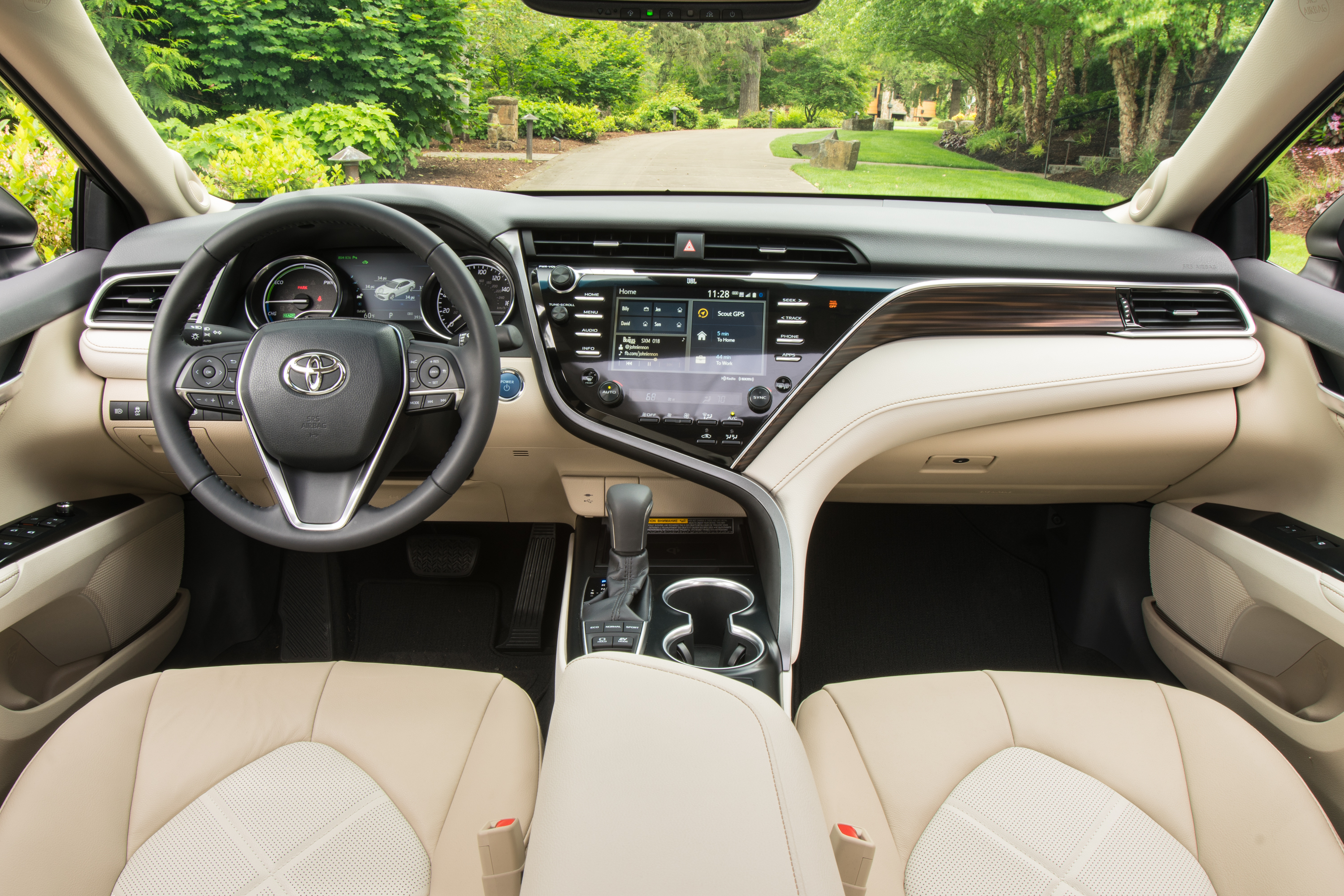 The interior of the 2018 camry xle courtesy of toyota