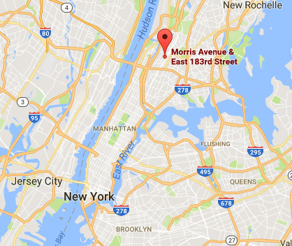 Approximate location of the July 5 early morning shooting that left an NYPD officer dead. (Google Maps)