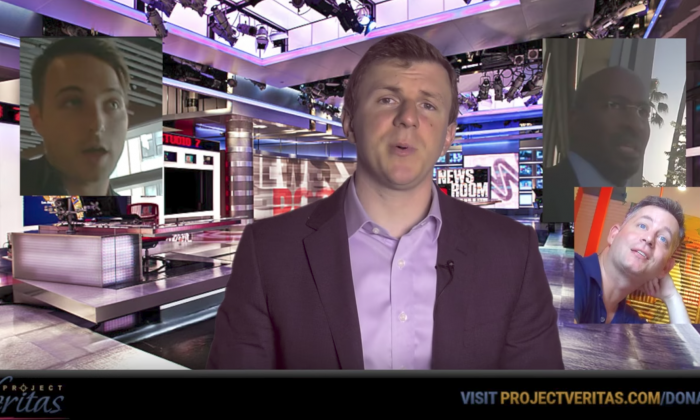 James O'Keefe of Project Veritas in his as-of-yet four-part expose on CNN,  this time exposing (Project Veritas/YouTube screenshot)