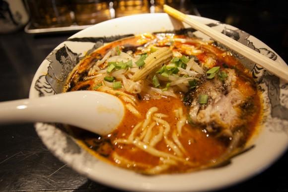 Spicy miso ramen at the Kikanbo ramen shop. (Annie Wu/The Epoch Times)
