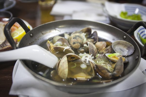 Asari clams in broth at Andy's Izakaya. (Annie Wu/The Epoch Times)