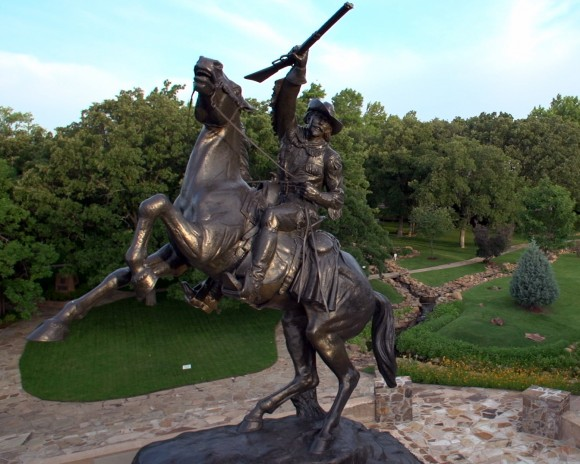 Statue of Buffalo Bill Cody on the grounds of the National Cowboy and Western Heritage Museum. (National Cowboy and Western Heritage Museum)