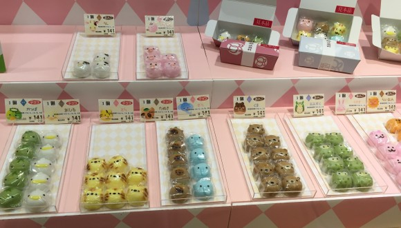 An array of animal-shaped sweets at the Takashimaya department store. (Annie Wu/The Epoch Times)