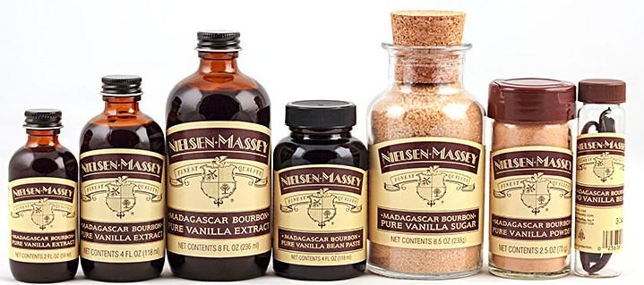 Nielsen-Massey's vanilla products. (COURTESY OF NIELSEN-MASSEY)