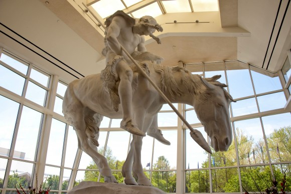A sculpture at the National Cowboy and Western Heritage Museum titled