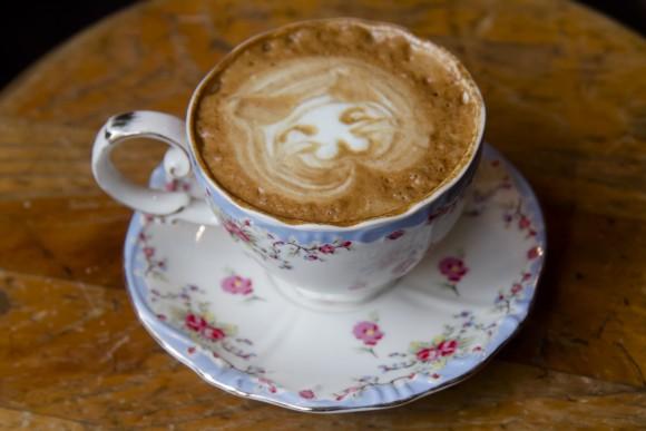 Wasabi latte. (Annie Wu/The Epoch Times)