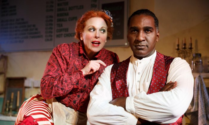 "Carolee Carmello and Norm Lewis take over the roles of Mrs. Lovett and Sweeney Todd in the Barrow Street Theatre production of ""Sweeney Todd: The Demon Barber of Fleet Street."" (Joan Marcus)"