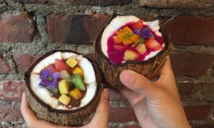 What's Better Than Açai Bowls? Açai Bowls Served in Coconut Shells