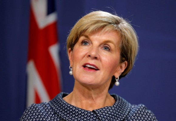 File photo: Australian Foreign Minister Julie Bishop speaks at a press conference in Sydney, Australia, May 4, 2017. (Reuters/Jason Reed)