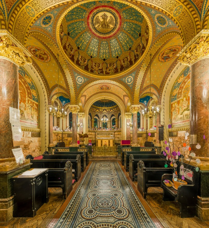 The interior of St Christopher's Chapel within Great Ormond St Childrens Hospital in London, England. (Creative Commons/Wikimedia)