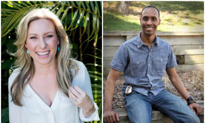 L: Justine Damond, also known as Justine Ruszczyk, from Sydney, is seen in this 2015 photo released by Stephen Govel Photography in New York, U.S., on July 17, 2017. (Stephen Govel Photography/Handout via Reuters); R: Minneapolis Police Department Officer Mohamed Noor. (City of Minneapolis Ward 8 Update Newsletter)