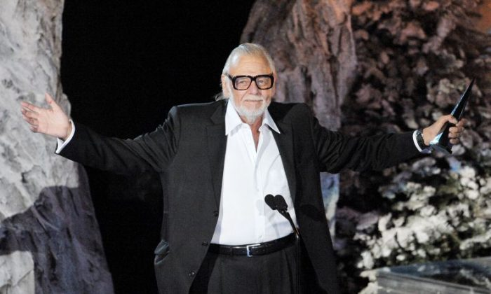 Director George A. Romero accepts the Mastermind Award onstage during Spike TV's Scream 2009 held at the Greek Theatre on October 17, 2009 in Los Angeles, California.  (Photo by Kevin Winter/Getty Images)