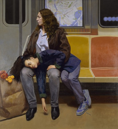 """""""Linda and Alicia,"""" 1992, by Harvey Dinnerstein. Oil on canvas, 48 inches by 44 inches. (Courtesy of Harvey Dinnerstein)"""