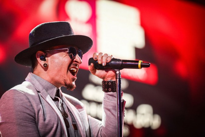 BURBANK, CA - MAY 22:  Chester Bennington of Linkin Park performs on stage at the iHeartRadio Album Release Party presented by State Farm at the iHeartRadio Theater Los Angeles on May 22, 2017 in Burbank, California.  (Photo by Rich Fury/Getty Images for iHeartMedia)