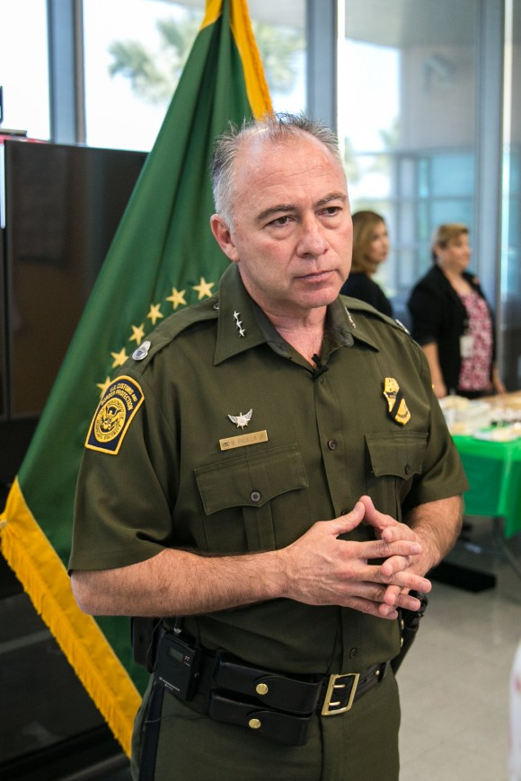 Manuel Padilla, chief of the Rio Grande Valley Border Patrol Sector, in Edinburg, Texas, on May 30, 2017. (Benjamin Chasteen/The Epoch Times)