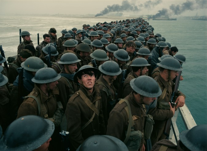 """Stranded soldiers in a scene from the Warner Bros. Pictures action thriller """"Dunkirk,"""
