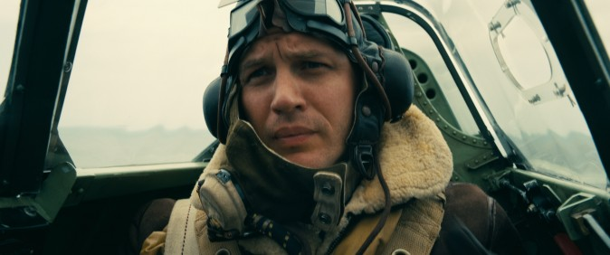 """Tom Hardy as Spitfire pilot Farrier in the Warner Bros. Pictures action thriller """"Dunkirk,"""