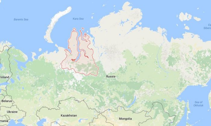 The Yamalo-Nenets region, where the mummies were found (Google Maps)