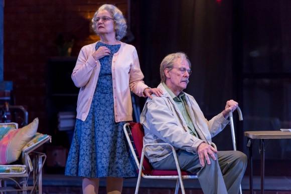 "Paula Scrofano and John Reeger, in ""The Gin Game."" (Brett Beiner)"