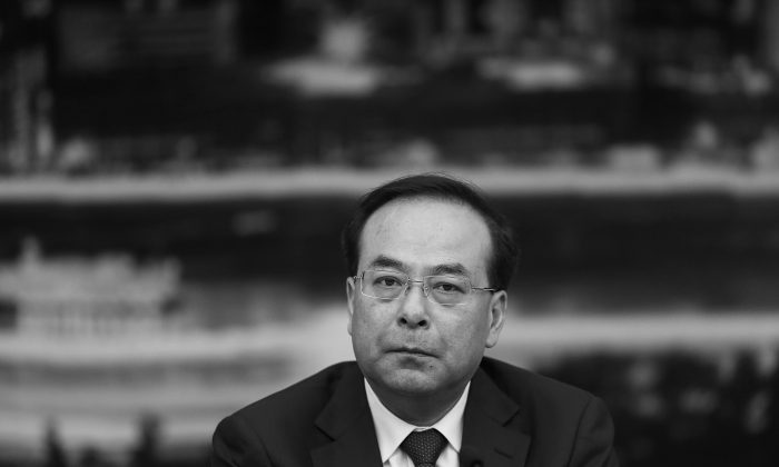 Former Chongqing Party secretary and Politburo member Sun Zhengcai in the Great Hall of the People on Mar. 6, 2016. Sun was officially investigated for corruption on July 24, 2017. (Lintao Zhang/Getty Images)