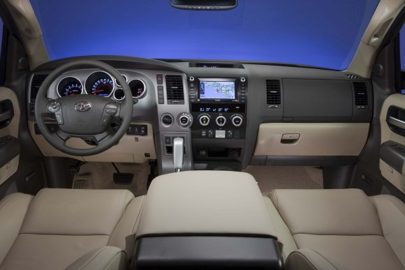 Inside the 2017 Sequoia. (Courtesy of Toyota)