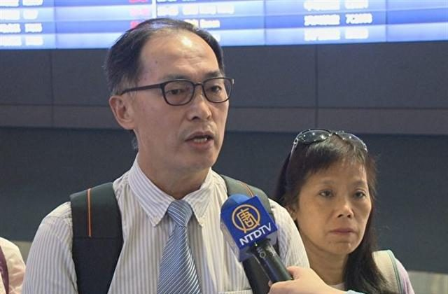 43 Taiwan Falun Gong practitioners were stopped at the Hong Kong airport and sent back to Taiwan on July 22 and July 23 even though they presented valid travel documents and had committed no crimes. (NTD Television)