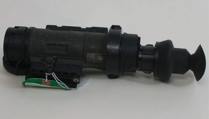 Infrared sight obtained by GAO investigators from the LESO program. (Government Accountability Office)