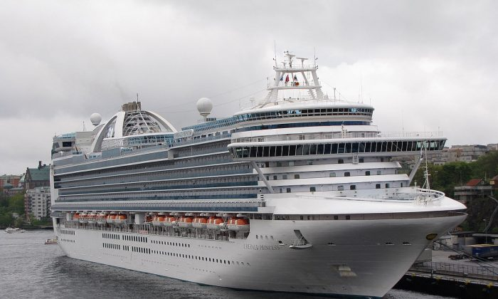 The Emerald Princess cruise liner, where  (Petritap/ Creative Commons Attribution-Share Alike 3.0 Unported)