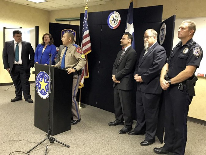 The Texas Department of Public Safety announcement of the results of an anti-human trafficking operation. (Midland Police Department)