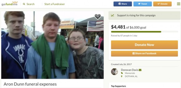 Aron pictured with his brother on GoFundMe page to support the family. (Screenshot/GoFundMe.com)