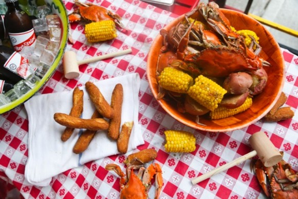 Miss Lily's jerk crab boil. (Courtesy of Miss Lily's)