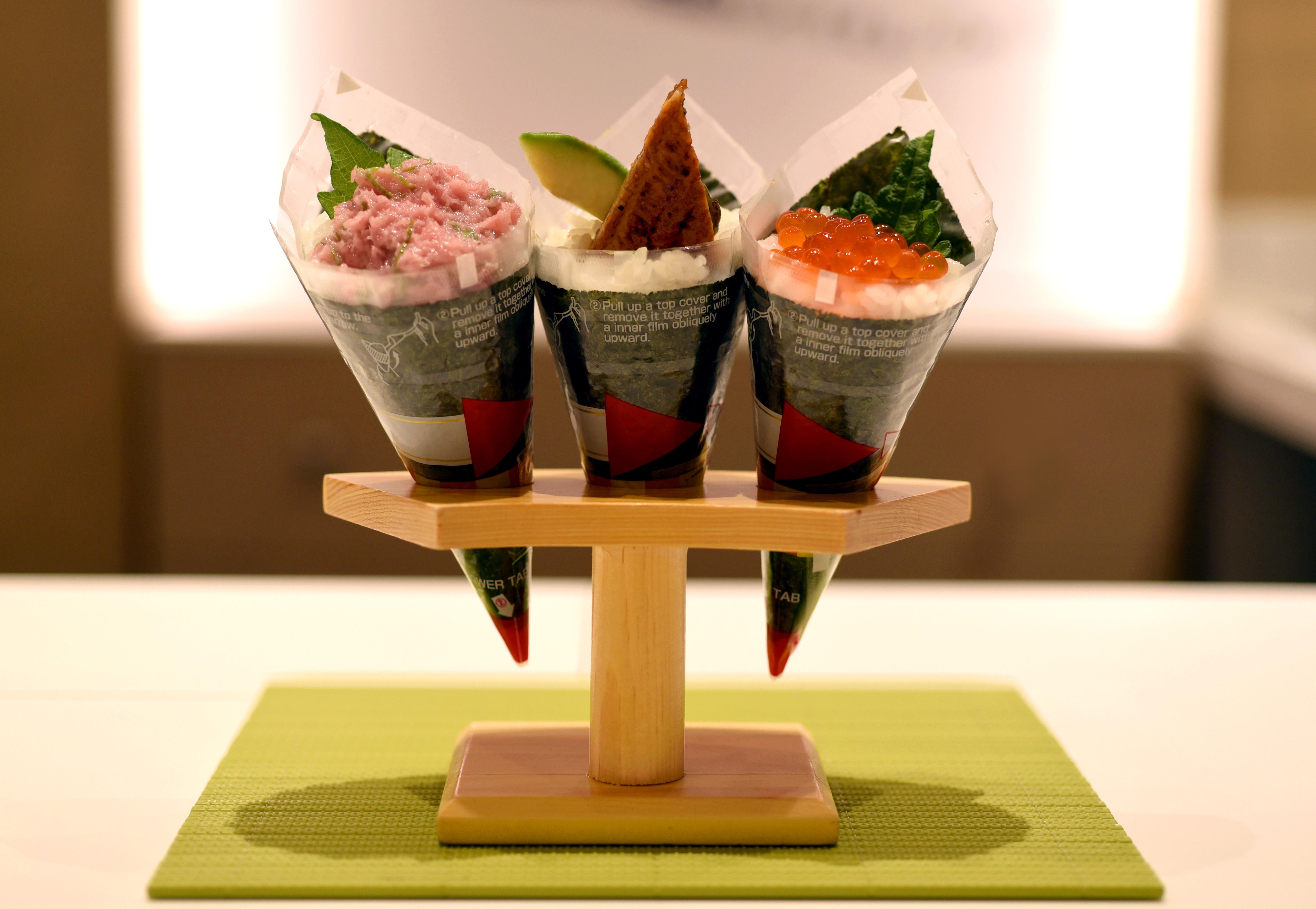 MakiMaki's sushi rolls. (Michael Tulipan)