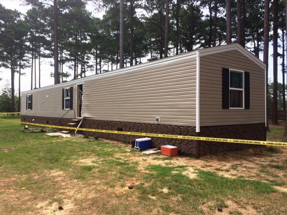Escaped inmate Deltra Henderson was fatally wounded in an exchange of gunfire with law officers after barricading himself in this home on the grounds of the David Wade Correctional Center on July 2, 2017. (Claiborne Parish Sheriff's Office)