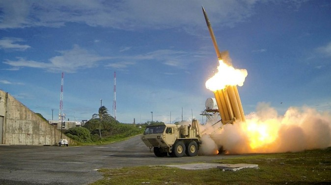 An undated file photo of a THAAD interceptor, provided by the Missile Defense Agency. (Handout / Reuters)