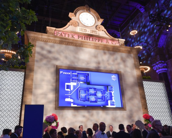 """The Reception Room of """"The Art of Watches Grand Exhibition"""" of Patek Philippe, in Cipriani 42nd Street, New York, July 2017. (Patek Philippe)"""