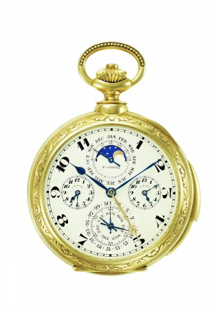 James Ward Packard's astronomical pocket watch created by Patek Philippe, featuring a celestial sky chart. (Courtesy of Patek Philippe)
