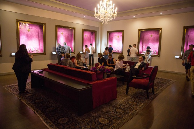 """The Current Collection Room at Patek Philippe's """"The Art of Watches Grand Exhibition"""" inside Cipriani 42nd Street in New York on July 19, 2017. (Benjamin Chasteen/The Epoch Times)"""