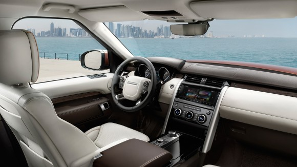 The interior of the Discovery. (Courtesy of Land Rover)