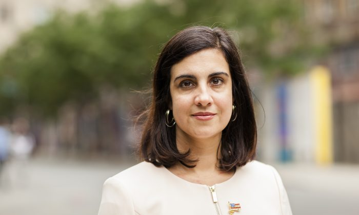 Republican mayoral candidate Nicole Malliotakis, in New York on July 27, 2017. (Samira Bouaou/The Epoch Times)