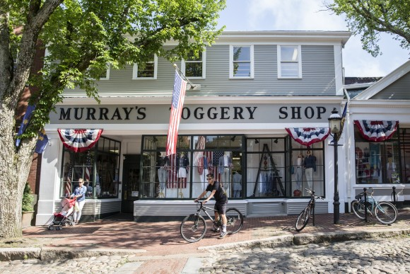Murray's Toggery Shop sells the original Nantucket Reds pants, not to mention sports coats, skirts, and hats, all in the iconic color.(Samira Bouaou/The Epoch Times)