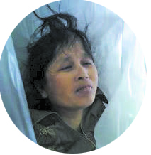 Xu Chensheng, after she died in police custody, in Chenzhou City, Hunan Province, China.