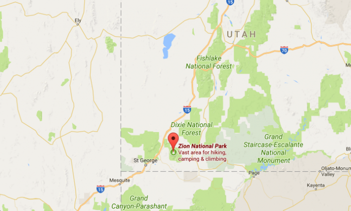 Zion National Park. (Google Maps)