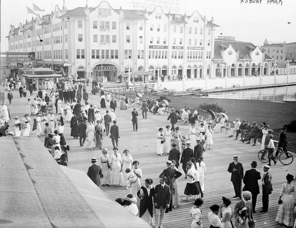The Asbury Park boardwalk in bygone days. (Asbury Park Boardwalk)