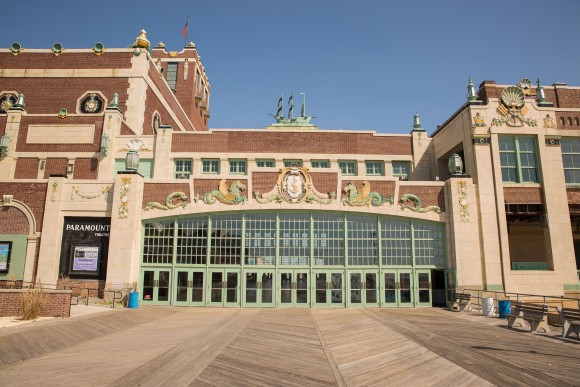 Entrance to the Convention Hall. (Asbury Park Boardwalk)