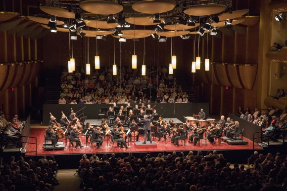 The Mostly Mozart Festival Orchestra conducted by Louis Langrée at David Geffen Hall on Aug. 4. (Richard Termine)