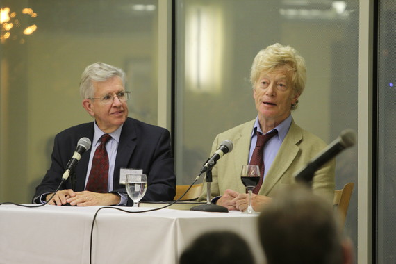 (L–R) John F. Crosby, a philosopher at  Franciscan University of Steubenville, and Sir Roger Scruton, a  philosopher and expert on aesthetics, at the