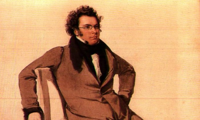 "Composer Franz Schubert in a watercolor by Wilhelm August Rieder. Schubert's song cycle ""Die schöne Müllerin"" captures the essence of romantic love in all of its stages. (Public domain)"