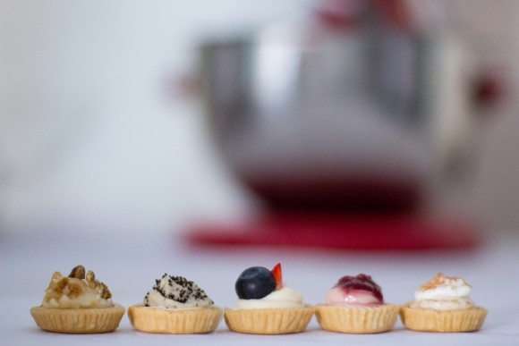 Cream cheese is reimagined into adorable, bite-sized tarts. (Courtesy of Becky's Bites)