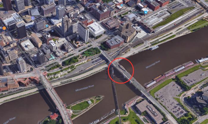 Robert Street bridge in St. Paul, Minn. (Google Earth)